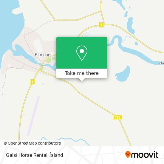 Galsi Horse Rental map