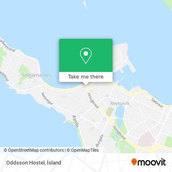 Oddsson Hostel map