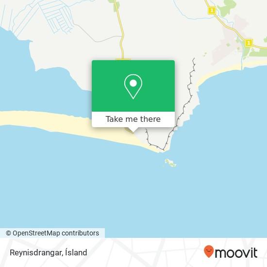 Reynisdrangar map