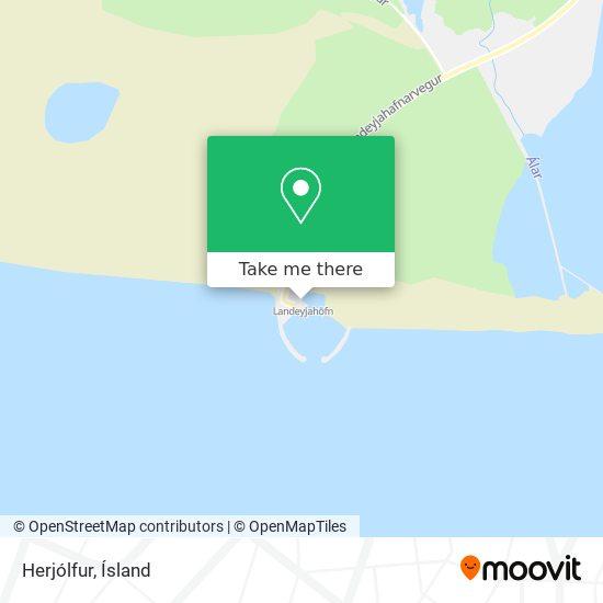Herjólfur map