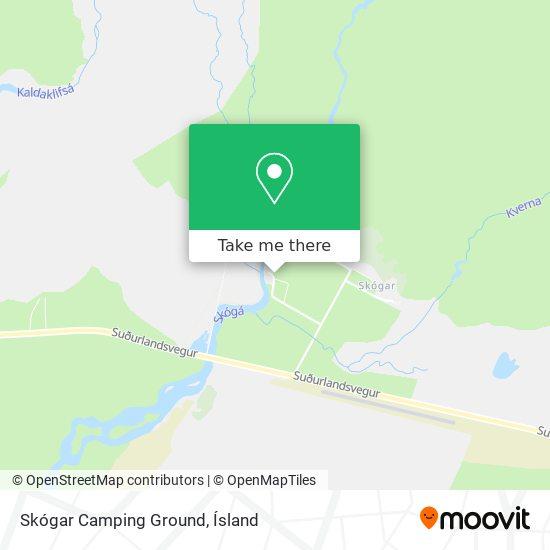 Skógar Camping Ground map