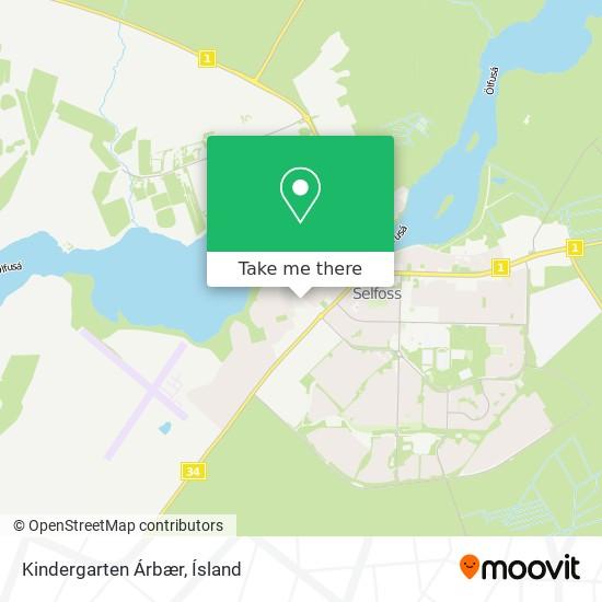 Kindergarten Árbær map