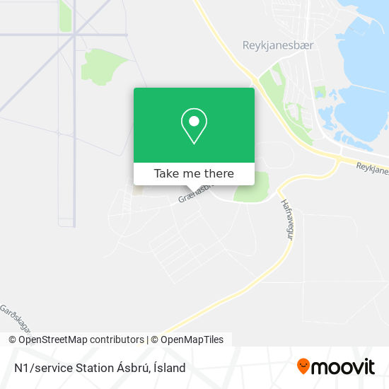 N1/service Station Ásbrú map