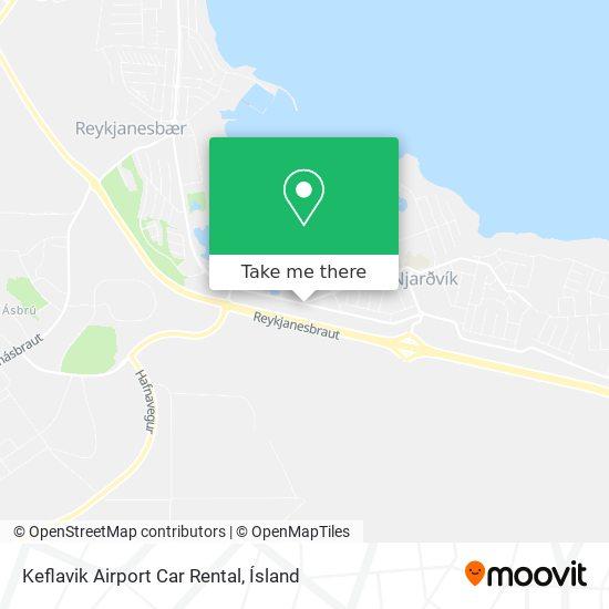 Keflavik Airport Car Rental map