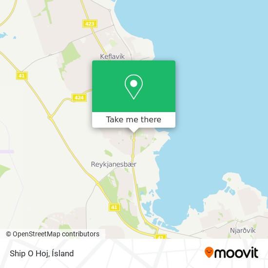 Ship O Hoj map