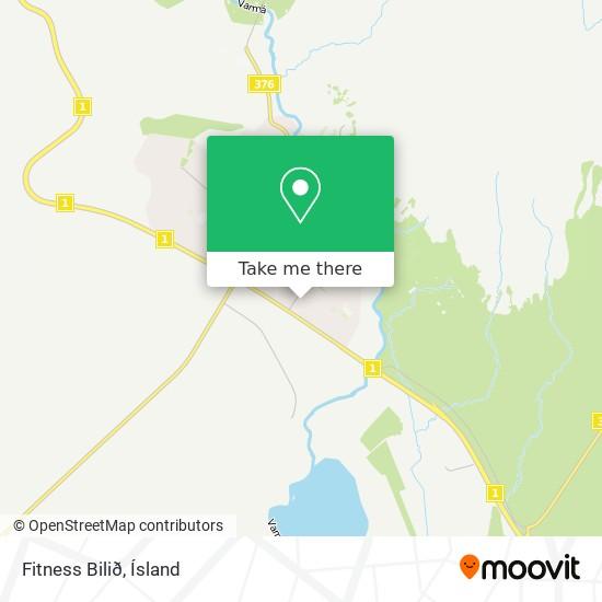 Fitness Bilið map