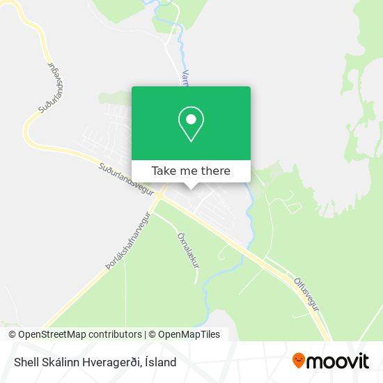 Shell Skálinn Hveragerði map