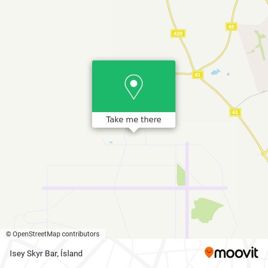 Isey Skyr Bar map