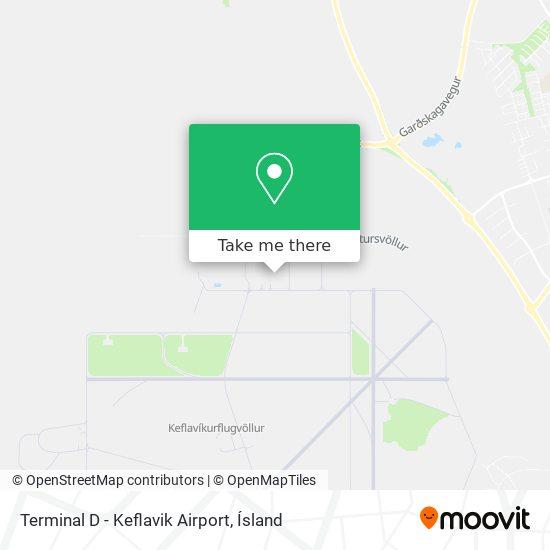 Terminal D - Keflavik Airport map