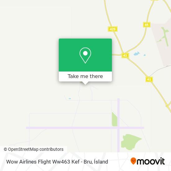 Wow Airlines Flight Ww463 Kef - Bru map