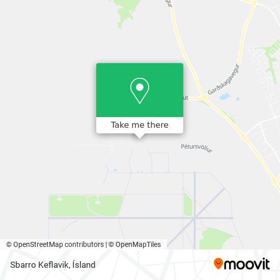 Sbarro Keflavik map