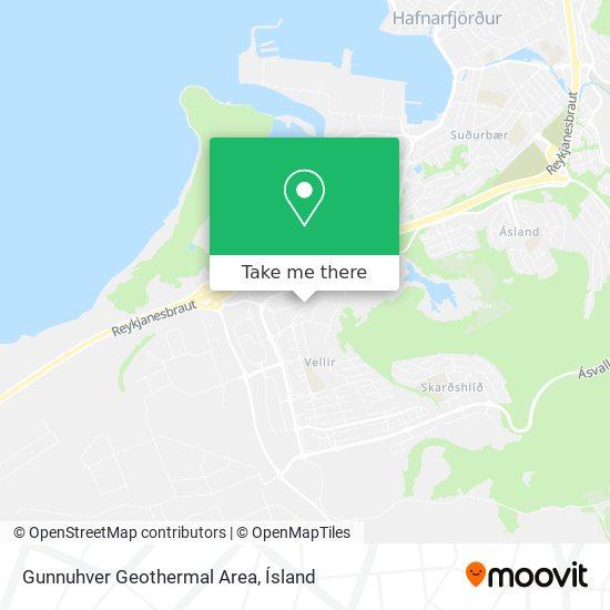 Gunnuhver Geothermal Area map