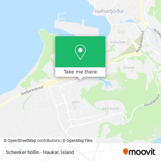 Schenker höllin - Haukar map