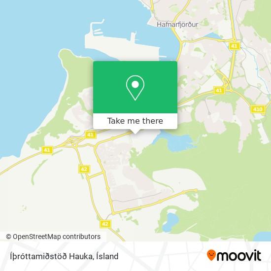 Íþróttamiðstöð Hauka map