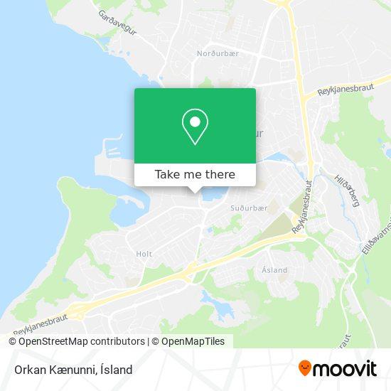 Orkan Kænunni map