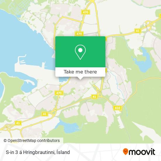 S-in 3 á Hringbrautinni map