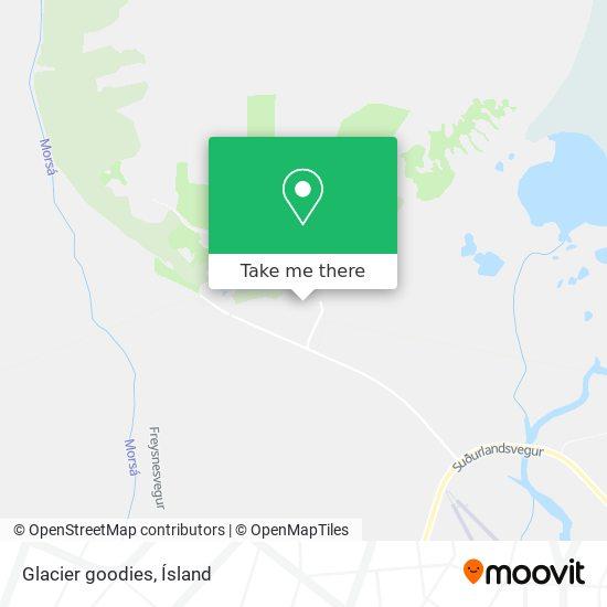 Glacier goodies map