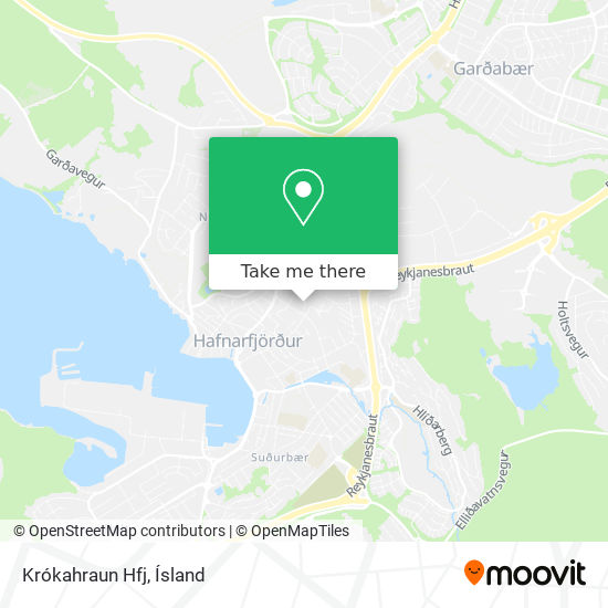 Krókahraun Hfj map