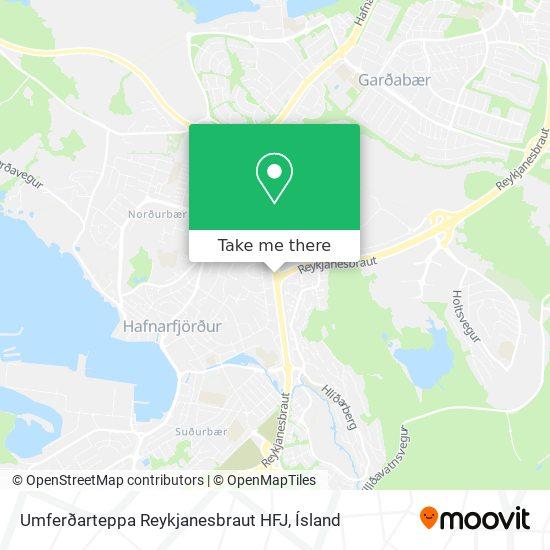 Umferðarteppa Reykjanesbraut HFJ map