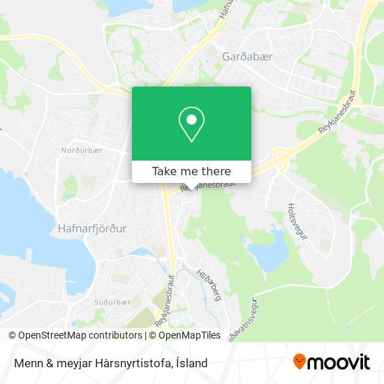 Menn & meyjar Hàrsnyrtistofa map