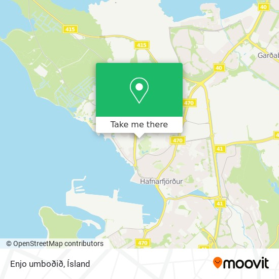 Enjo umboðið map