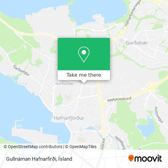 Gullnáman Hafnarfirði map