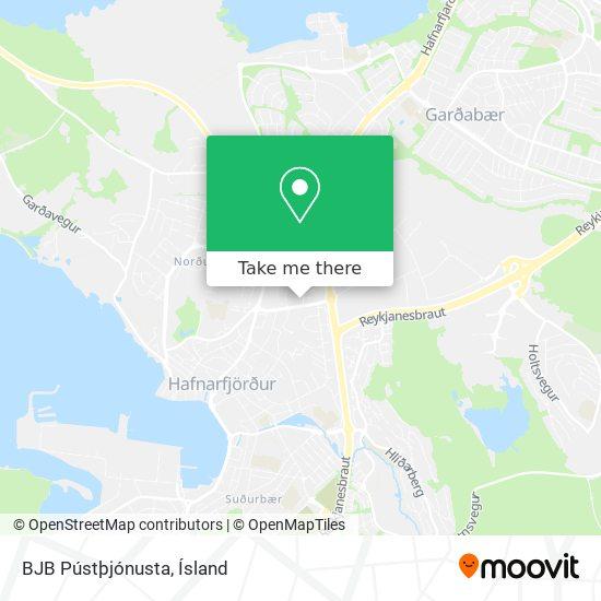 BJB Pústþjónusta map