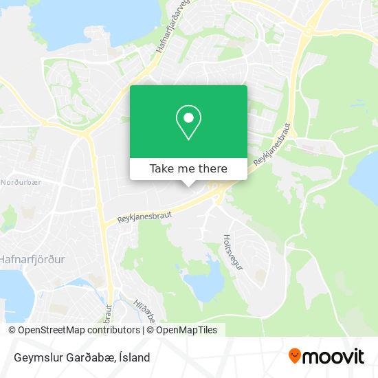Geymslur Garðabæ map