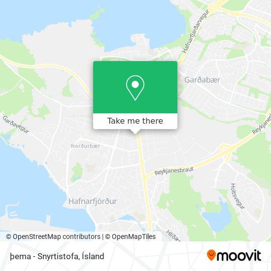 þema - Snyrtistofa map