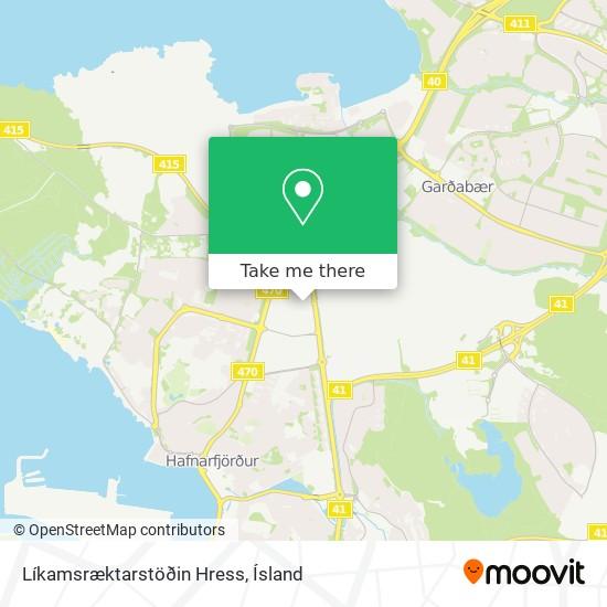 Líkamsræktarstöðin Hress map