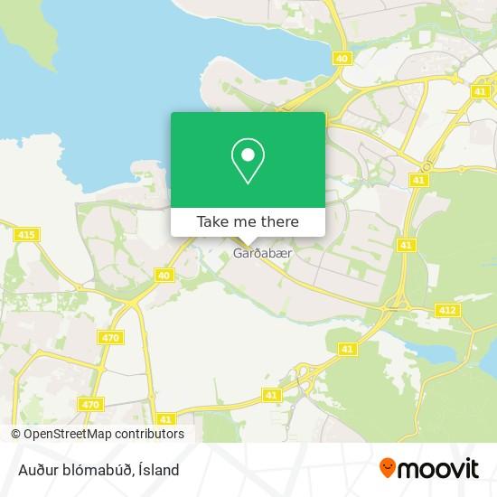 Auður blómabúð map