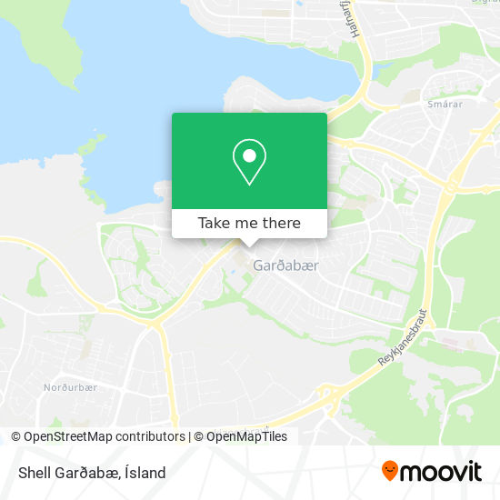 Shell Garðabæ map