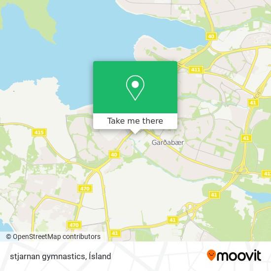 stjarnan gymnastics map