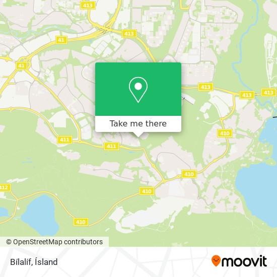 Bílalíf map