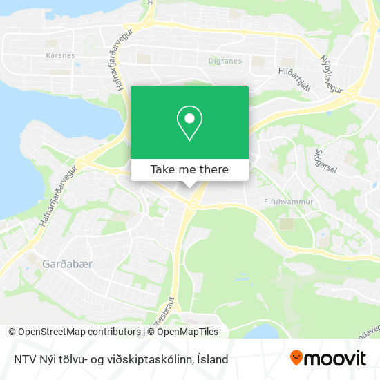 NTV Nýi tölvu- og viðskiptaskólinn map