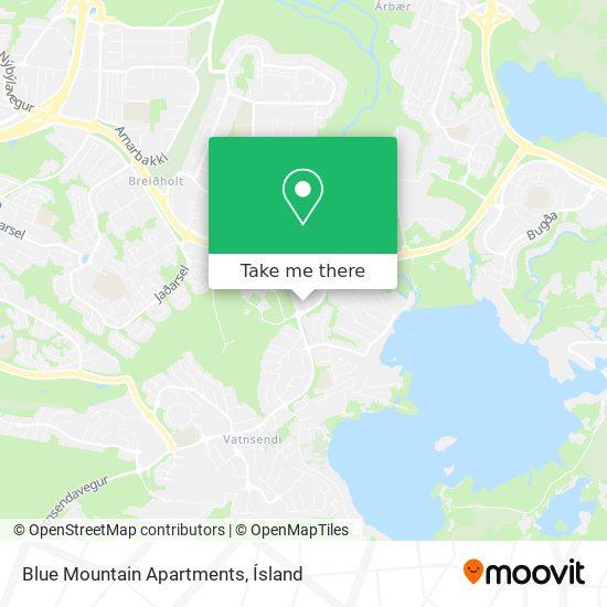 Blue Mountain Apartments map