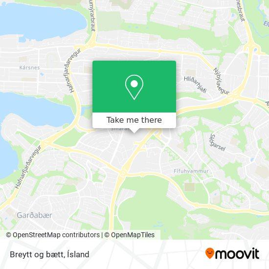 Breytt og bætt map