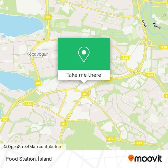 Food Station map