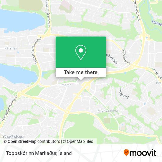 Toppskórinn Markaður map