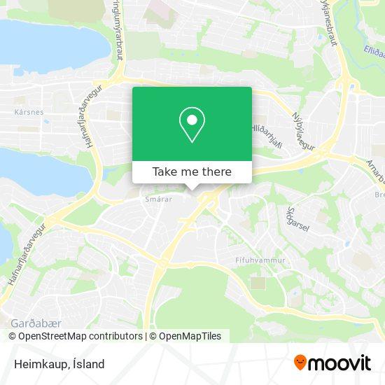 Heimkaup map