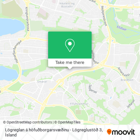 Lögreglan á höfuðborgarsvæðinu - Lögreglustöð 3 map