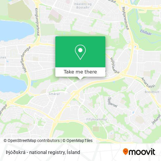 Þjóðskrá - national registry map