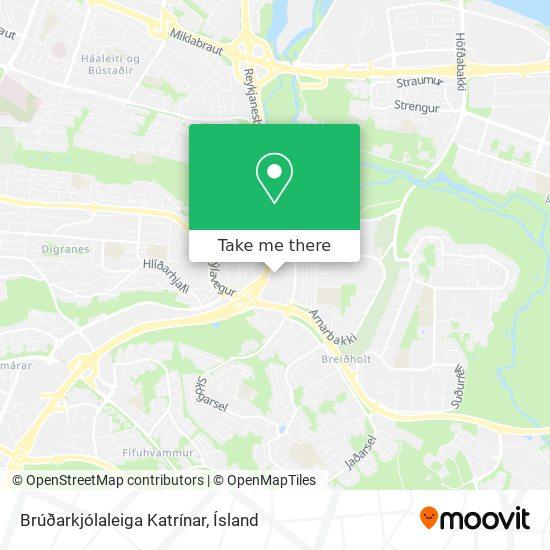 Brúðarkjólaleiga Katrínar map