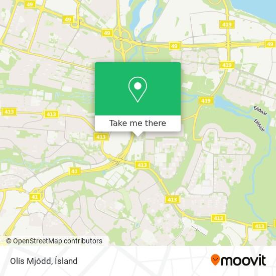 Olís Mjódd map