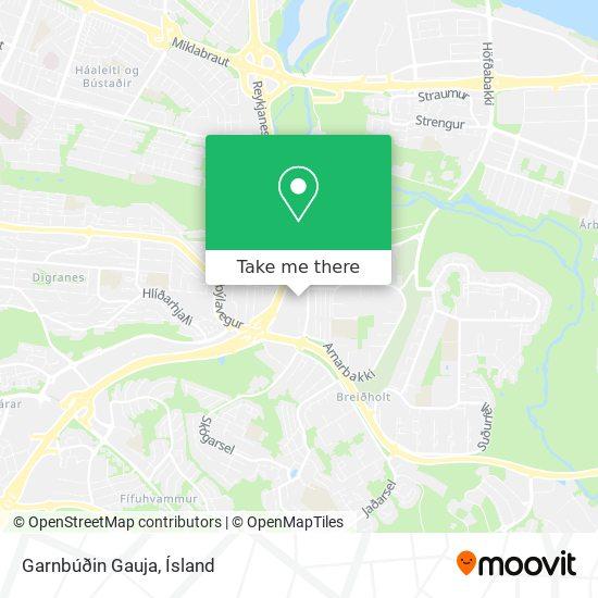 Garnbúðin Gauja map