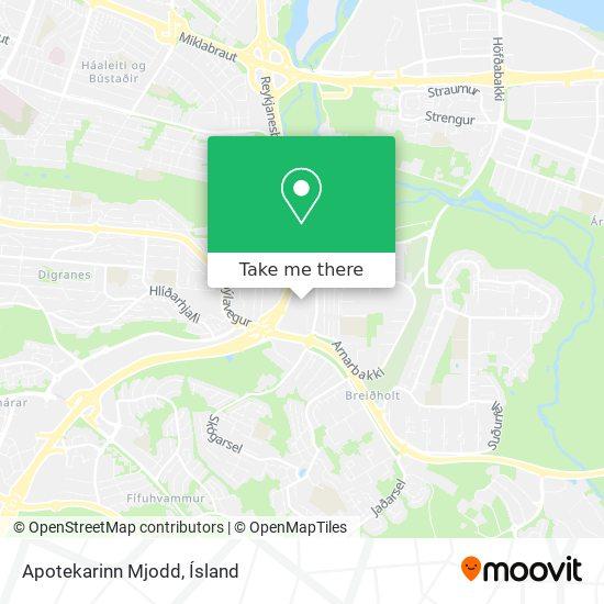 Apotekarinn Mjodd map