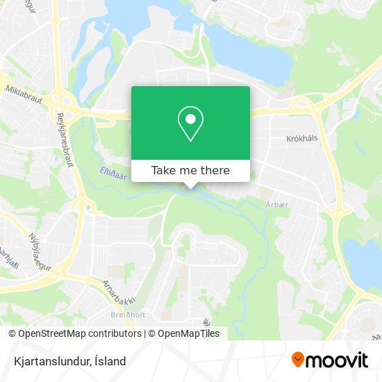 Kjartanslundur map