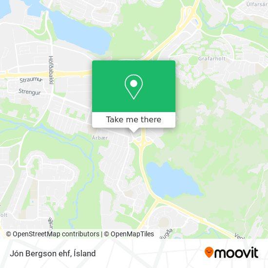 Jón Bergson ehf map