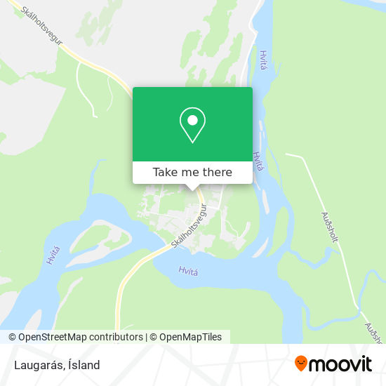 Laugarás map
