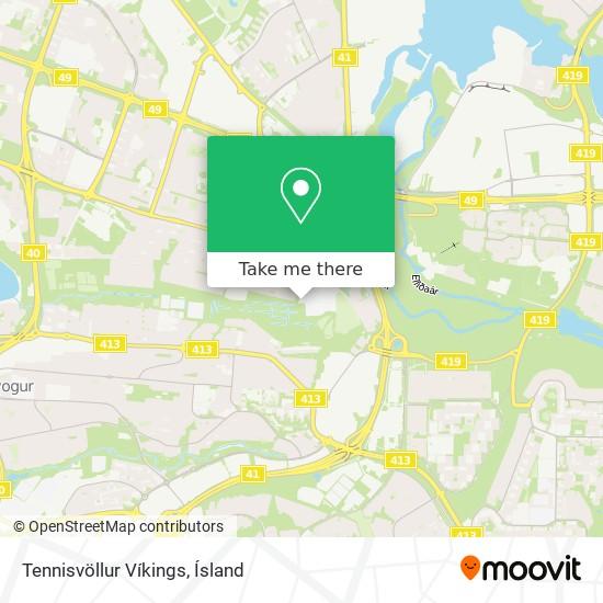 Tennisvöllur Víkings map